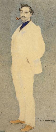 blastedheath:    Ramon Casas (Catalan-Spanish, 1866-1932), Antoni Utrillo. Museu Nacional d'Art de Catalunya, Barcelona.