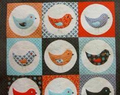 Bird Quilt Patterns | Nine Birds Quilt Pattern by emma je an jansen - Australian designer ...