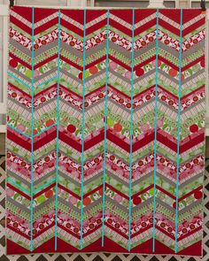 from the blue chair: Chevron Quilt Tips