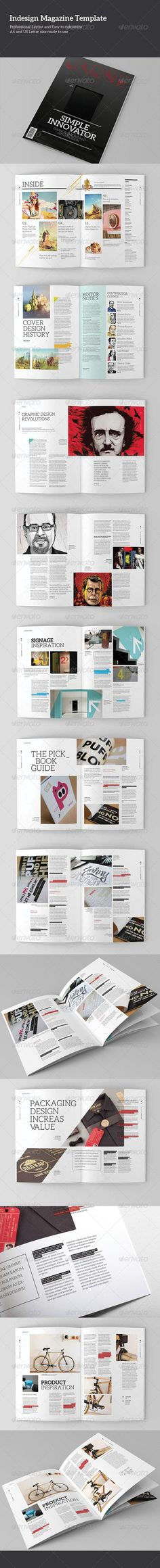 Indesign Magazine Template Vol.1 — InDesign INDD #flexible #template • Available here → https://graphicriver.net/item/indesign-magazine-template-vol1/5122067?ref=pxcr