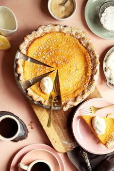 Joy the Baker makes Southern Lemon Chess Pie. Lemon Chess Pie, Muffins, Joy The Baker, Sweetened Whipped Cream, Homemade Pie Crusts, Dried Beans, Pie Dish, Easy, Sweet Tooth
