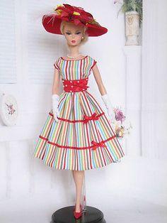 Full Skirt Dress For Silkstone Barbie By Kunchris