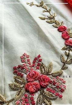 Embroidery On Kurtis Zardozi Embroidery Pearl Embroidery Embroidery Suits Hand Work Embroidery Simple Embroidery Indian Embroidery Embroidery Fashion Embroidery Patterns Zardosi Embroidery, Embroidery On Kurtis, Hand Embroidery Dress, Couture Embroidery, Embroidery Fashion, Beaded Embroidery, Indian Embroidery, Border Embroidery Designs, Embroidery Suits Design