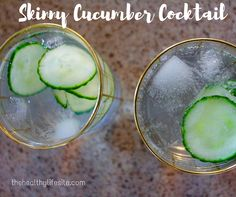 21 day fix approved Skinny Cucumber Cocktail . Clean eating!