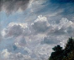 John Constable RA, Cloud Study, Hampstead, Tree at Right