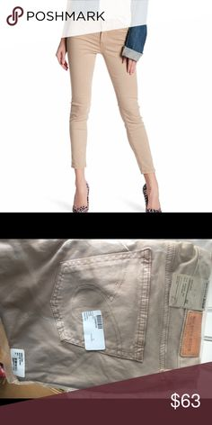 NWT Big Star crop jeans size 32 tan from buckle Tan size 32 skinny crop jeans. New in bag.   Victoria Secret, PINK, Bke, Rock revivals, miss me, true religion, express, buckle, affliction, sinful check out my closet! Ugg Australia. The North face Big Star Jeans Ankle & Cropped