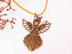 Bronze Angel Midori Traveler's Notebook Charm by PrettySang