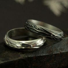 Elven Ring - Sterling Silver Leaf Design Ring - Fantasy Inspired Men's Ring - Woodland Ring - Men's Wedding Ring - Nature Inspired Jewelry by RevolutionBA on Etsy https://www.etsy.com/listing/193491116/elven-ring-sterling-silver-leaf-design