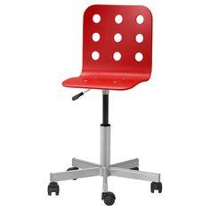 JULES Sedia da scrivania - rosso - IKEA 49€