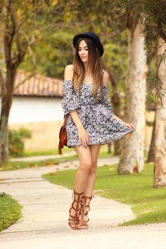 FashionCoolture - 19.11.2015 look du jour Amaro floral dress boho outfit (7)