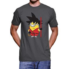 Megaphone - Camiseta Goku Minions - Camiseta Hombre Manga Corta, Gris, Talla : L #camiseta #realidadaumentada #ideas #regalo