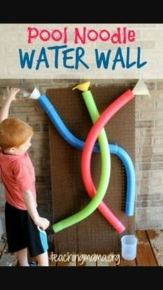 Teaching Mama: Pool Noodle Water Wall-Fun, summer activity for toddlers. Pinned by SOS Inc. Resources siu ki Inc. Teaching Mama: Pool Noodle Water Wall-Fun, summer activity for toddlers. Pinned by SOS Inc. Resources siu ki Inc. Summer Activities For Toddlers, Family Activities, Preschool Water Activities, Outdoor Toddler Activities, Learning Activities, Garden Ideas For Toddlers, Outdoor Play For Toddlers, Sensory Play For Toddlers, Outdoor Activities For Preschoolers