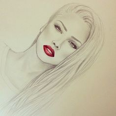 photography pretty drawing art red girl cute Black and White fashion hot beautiful women amazing barbie red lips alena shishkova