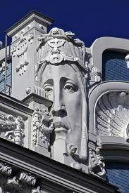 Top of art deco building