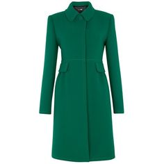 Jigsaw Princess Coat, Green (3,315 MXN) ❤ liked on Polyvore featuring outerwear, coats, jackets, coats & jackets, green coat, woolen coat, wool coat, long sleeve coat and single breasted wool coat