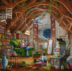 """Tales of Magical Places"" by Randal Spangler from his 'Ladnar's Libraries' collection."