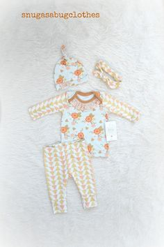 Newborn Take Home Outfit Baby Girl Modern by SnugAsaBugClothes