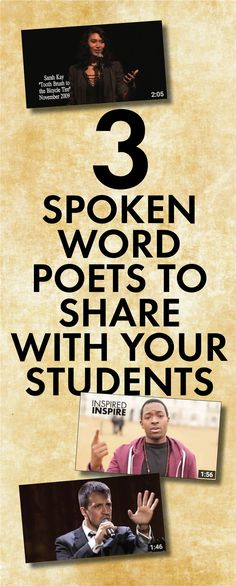 Bring spoken word poetry into your classroom #highschool #poetry