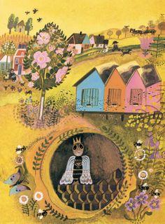 Illustration by Josef Palecek for the book La Cancion del Manzano (by Jaroslav Seifert)