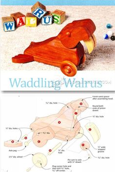 Waddling Walrus Pull Toy Plans - Children's Wooden Toy Plans and Projects | WoodArchivist.com