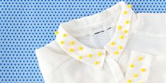 More cuteness! DYI your chemisier blouse with mimosa pompons @My Little Paris