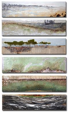 Robin Luciano Beaty - Beautiful art, Robin truly understands the. Informations About Robin Luciano Landscape Art, Landscape Paintings, Sea Paintings, Wax Art, Encaustic Painting, Painting Inspiration, Collage Art, Fine Art, Artwork