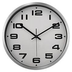 metal Fundo Branco Relógio de parede