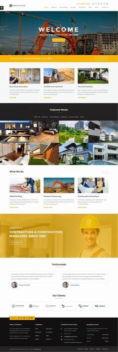 Construction Building Business Responsive WP Theme 2015 #WordPress