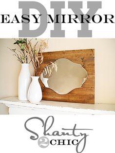 Easy DIY Mirror Pallet!