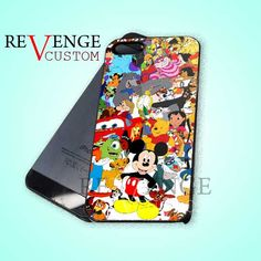 Disney Character Design - iPhone 4/4s/5 Case - Samsung Galaxy S3/S4 Case - Black or White by REVENGECUSTOM on Etsy