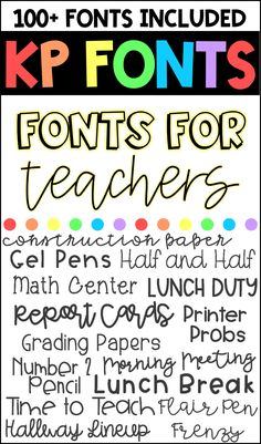 Over 100 commercial use fonts for teachers and designers! Script, serif, calligraphy, etc! Fancy Fonts, Cool Fonts, Teaching Tools, Teacher Resources, Teacher Fonts Free, Free School Fonts, Teacher Logo, Classroom Organization, Classroom Management