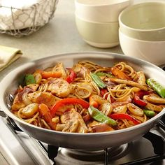 Make authentic tasting lo mein at home with chicken and fresh vegetables. No Asian noodles? Use thin spaghetti instead.