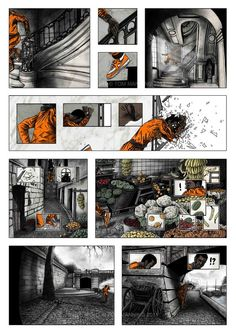 Graphic Novel Pages by Tom J Manning, via Behance