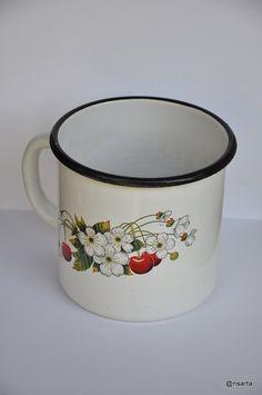 Enamel mug. USSR. Vintage by ANSARTA on Etsy