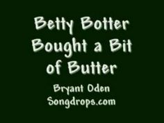This tongue twister song is a new version of the old tongue twister, Betty Botter. Song by Bryant Oden (Songdrops). Tongue Twisters, Brain Breaks, Teaching Music, Therapy Ideas, Grammar, Mindset, School Ideas, Old Things, Poetry