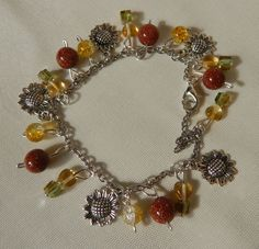 Free shipping on jewelry orders.  Bracelet with goldstone