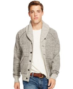 abe72ef131ae Polo Ralph Lauren Shawl Collar Cardigan - Sweaters - Men - Macy s Shawl  Cardigan