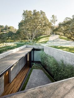 California home for a violinist features underground rooms and a rooftop pool