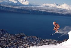 Narvikfjellet Narvik, Sea Level, All The Way Down, Norway, Circles, Skiing, Contrast, Places To Visit, Snow