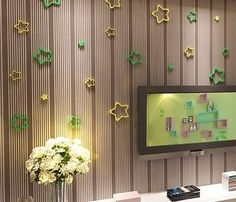 3D-three-dimensional-star-TV-background-wall-decoration-Home-Furnishing-No-hole