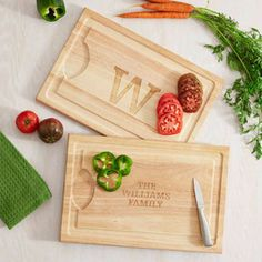 Personalized Wood Cutting Board, Family Name