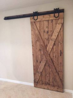 sliding barn door.  This customer went with knotty pine, provincial finish, and minwax satin poly.  We were only responsible for the door itself.  the customer hung it and did a pretty good job.