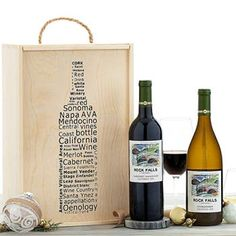 Wine Gift Baskets - Wine Gift Box Wine Gift Boxes, Wine Gift Baskets, Wine Gifts, California Wine, Wine Rack, Bottle, How To Make, Wine Baskets, Bottle Rack