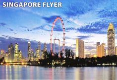 From MALAYSIA - From a Postcrosser I received this card: The Singapore Flyer, the world's tallest observation wheel. City of Singapore