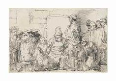 Christ Seated Disputing with the Doctors Rembrandt (Rembrandt van Rijn) (Dutch, Leiden Amsterdam) Date: 1654 Medium: Etching Classification: Prints Credit Line: Gift of Henry Walters, 1923 Accession Number: Rembrandt Etchings, Rembrandt Drawings, Leiden, Modern Prints, Art Prints, Lucas 2, Baroque, Dutch Golden Age, Dutch Painters
