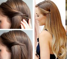10 Quick And Easy Hairstyles For Updo Newbies – Easy Pulled Back Hairstyles Pulled Back Hairstyles, Bobby Pin Hairstyles, Braided Hairstyles Tutorials, Curled Hairstyles, Easy Hairstyles, Easy Wedding Guest Hairstyles, Hairstyles 2018, Straight Hairstyles For Long Hair, Straight Prom Hair