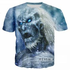f1be8ab1aaf8c 3D Printed Unisex T-Shirt Casual Tees Cool - White Walkers Only US  19.72
