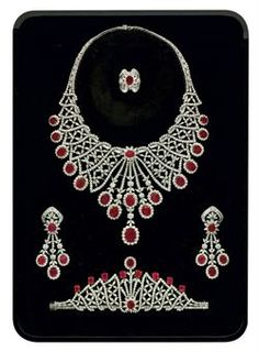 A RUBY AND DIAMOND PARURE, BY ELIE CHATILA got to love anything that has a matching tiara