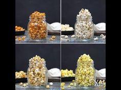 4 Ways Flavoured Popcorn Flavoured Popcorn, Butter Popcorn, Low Calorie Snacks, Popcorn Recipes, Americas Test Kitchen, 3 Ingredients, Fun Desserts, Yummy Treats, Tasty