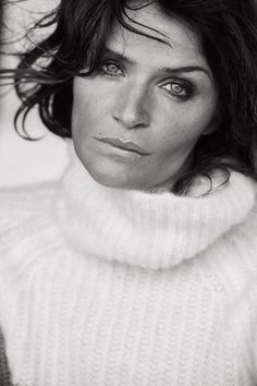 Helena Christensen by Peter Lindbergh for Italian Vogue, Sept. 2015.